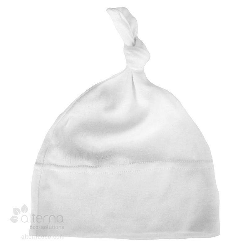 Bonnet pour bébé avec noeud fabriqué au Québec, Canada