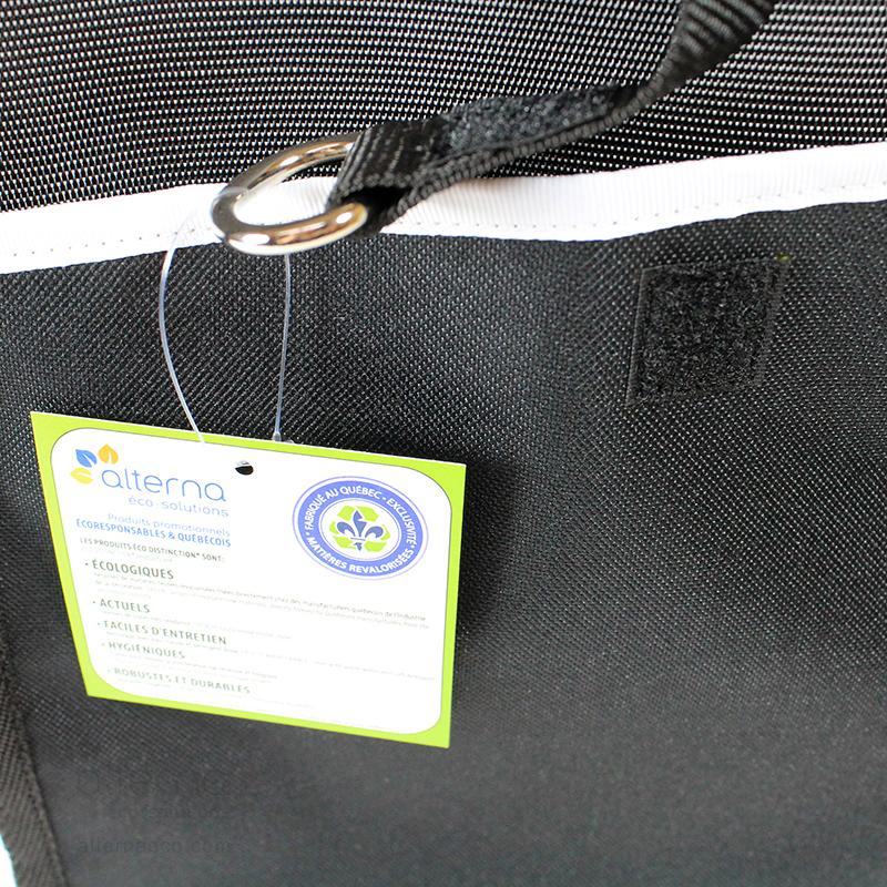 L'Enseignant avec glissière (zip) et poche, fabriqué au Québec en entreprise d'économie sociale à partir de retailles luxueuses revalorisées
