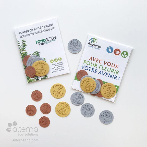 Monnaie en papier semencé fabriquée au Canada