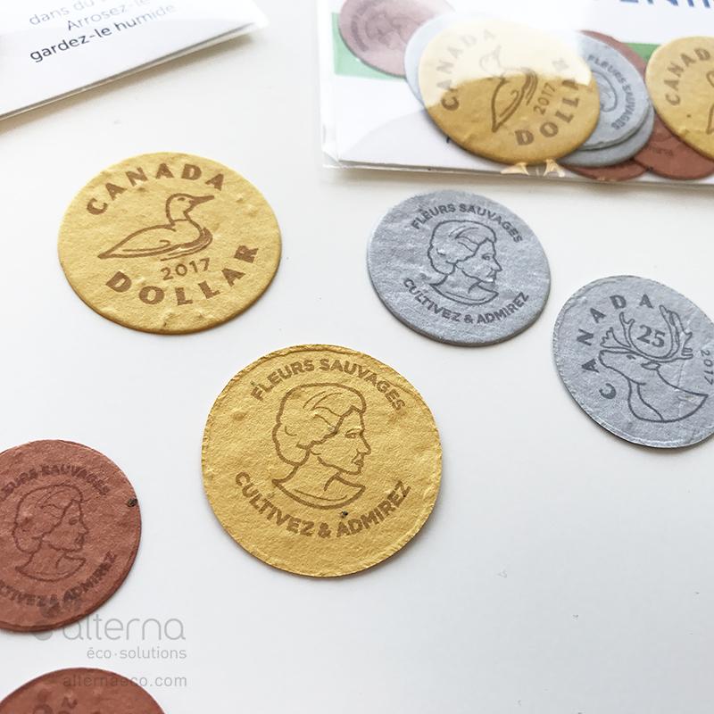 Monnaie en papier semences fabriquée au Canada