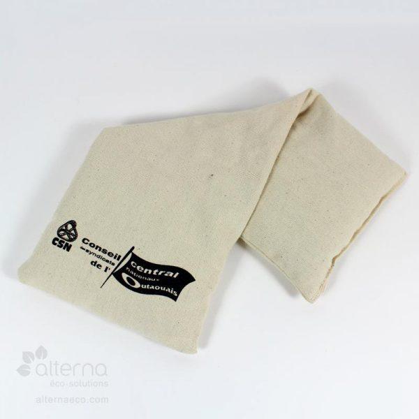 """Compresse chaud-froid rectangle avec grains naturels. Format 15"""" x 6""""."""