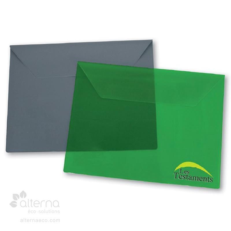 Pochette en vinyle avec rabat de 3 ½''