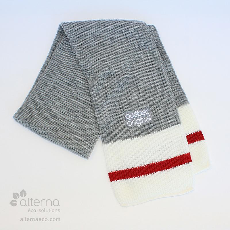 Foulard à rayure, tricot shaker