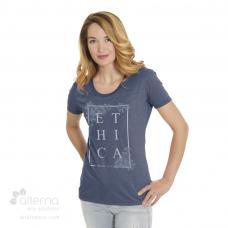 T-shirt en coton Bio pour Femme avec large col rond