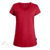 T-shirt en coton biologique, T-shirt en coton bio pour femme avec col en V,