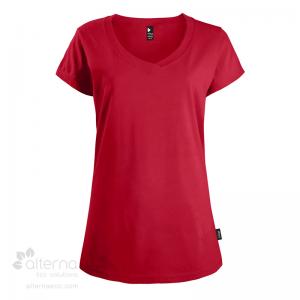 t-shirt en coton bio, T-shirt en coton bio pour femme avec large col rond,