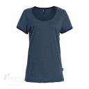 T-shirt pour femme en coton biologique - Fait au Québec - Marine chiné