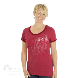 T-shirt pour femme en coton biologique - Fait au Québec, Made in Canada