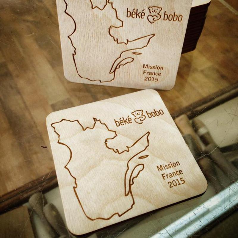 Sous-verres en bois fabriqués au Québec