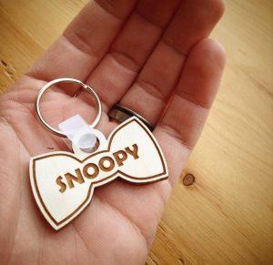 Porte-clés en bois - Boucle