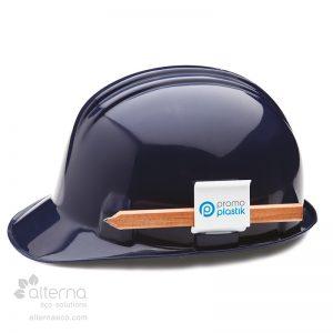 Porte-crayon pour casque de sécurité
