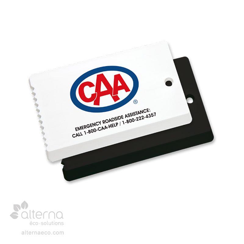 Grattoir à glace format carte d'affaires
