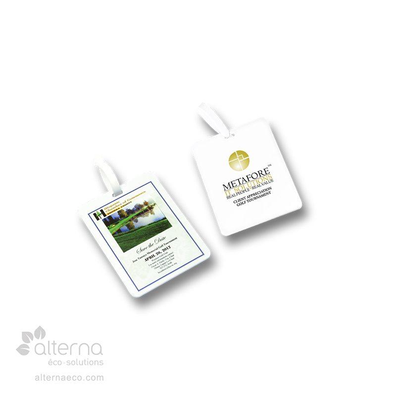 Étiquette pour sac de golf–rectangle
