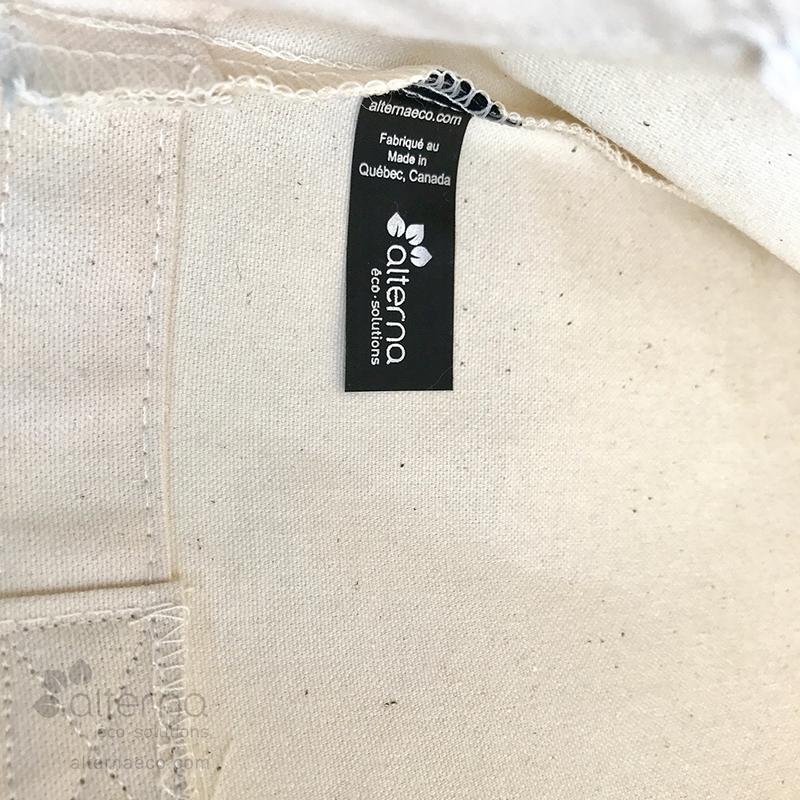 Étiquette fabriqué au québec