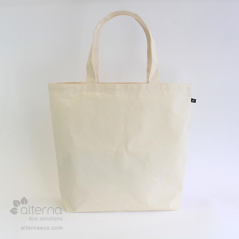 sac réutilisable en coton naturel La Grande Fouineuse fait au Quebec, Canada