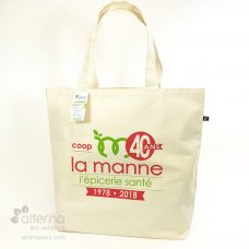 Sac réutilisable en coton naturel
