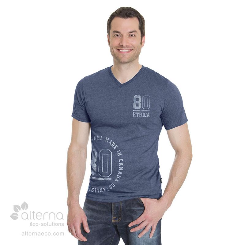T-shirt en coton Bio pour homme fabriqué au Québec (Canada)