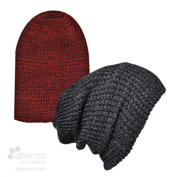 Bonnet long en fil chiné