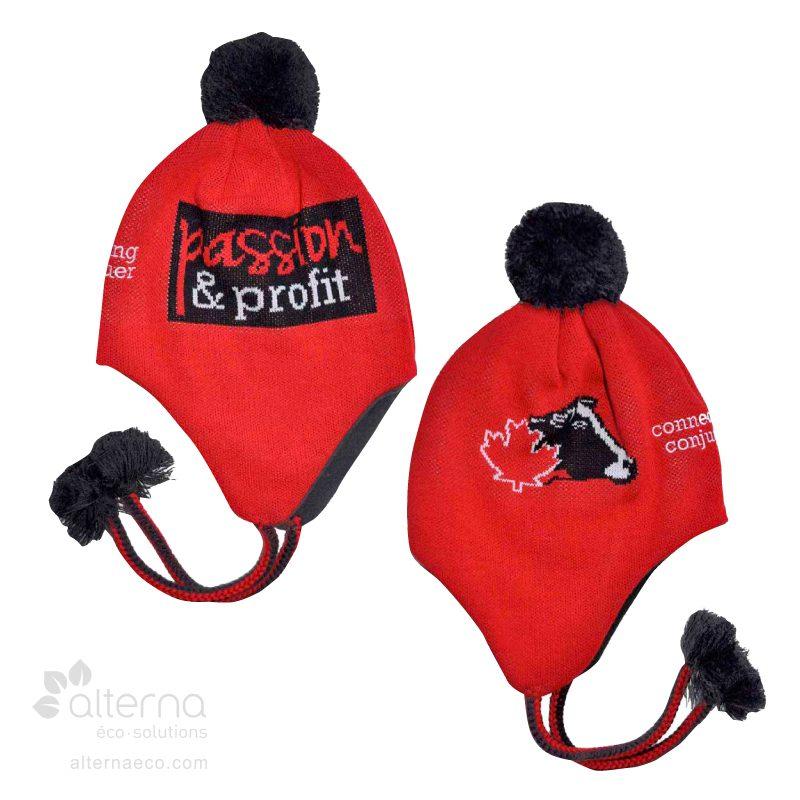Tuque cache-oreilles avec motif HD et logo