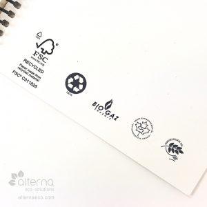 Carnet de note à relieures spirales fabriqué au Québec