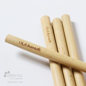 Pailles en bambou biodégradables