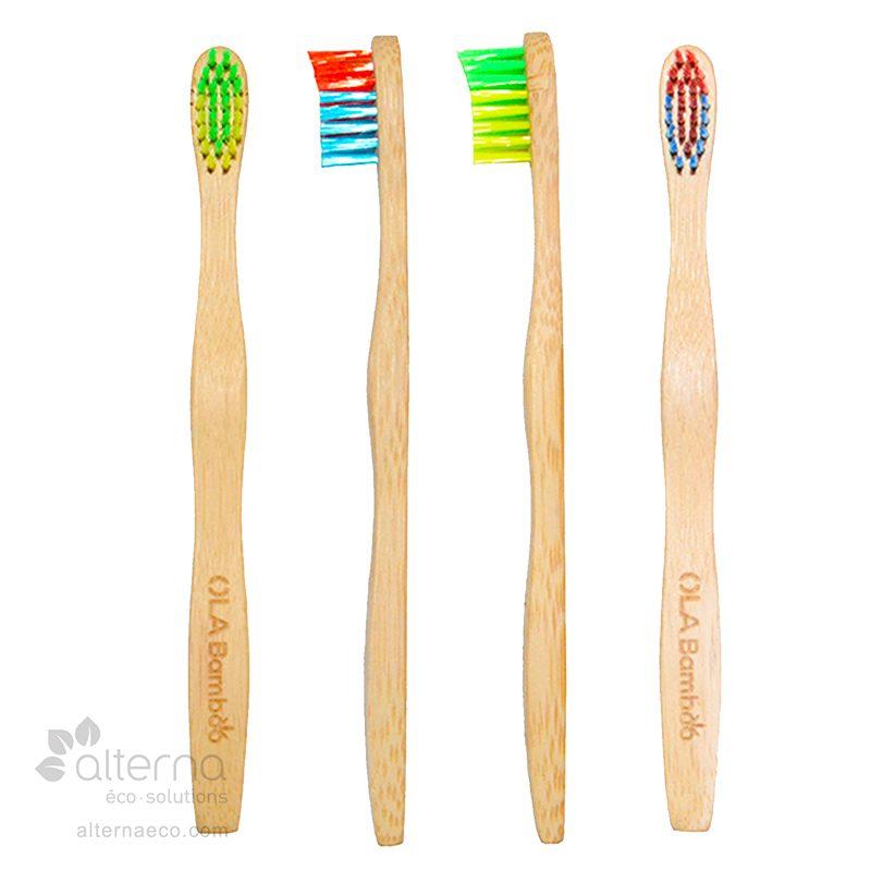 Brosse à dents en bambou pour enfants