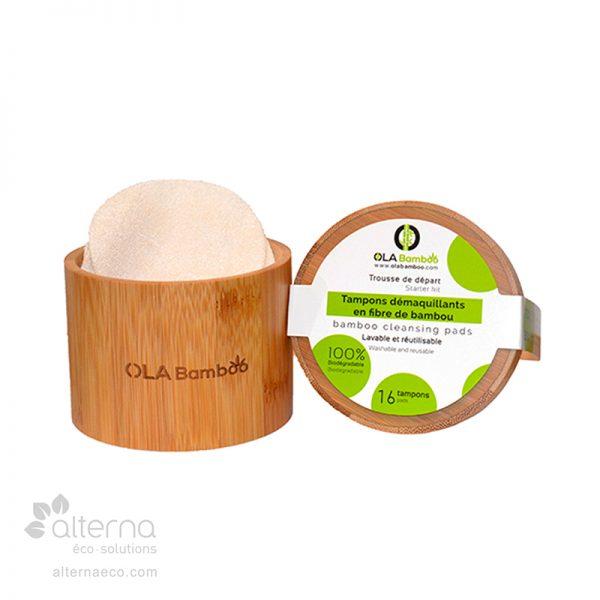 Coffret de tampons démaquillants en bambou biodégradables