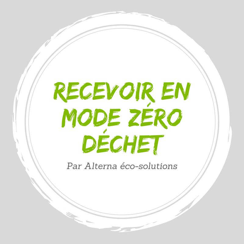 Recevoir en mode zéro déchet