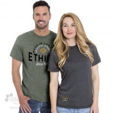 T-shirt en coton bio unisexe avec col rond