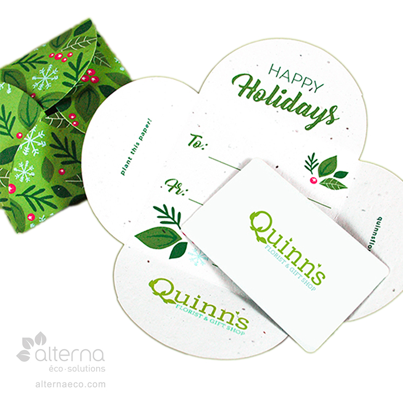 Porte-carte à carte cadeau fabriqué au Canada
