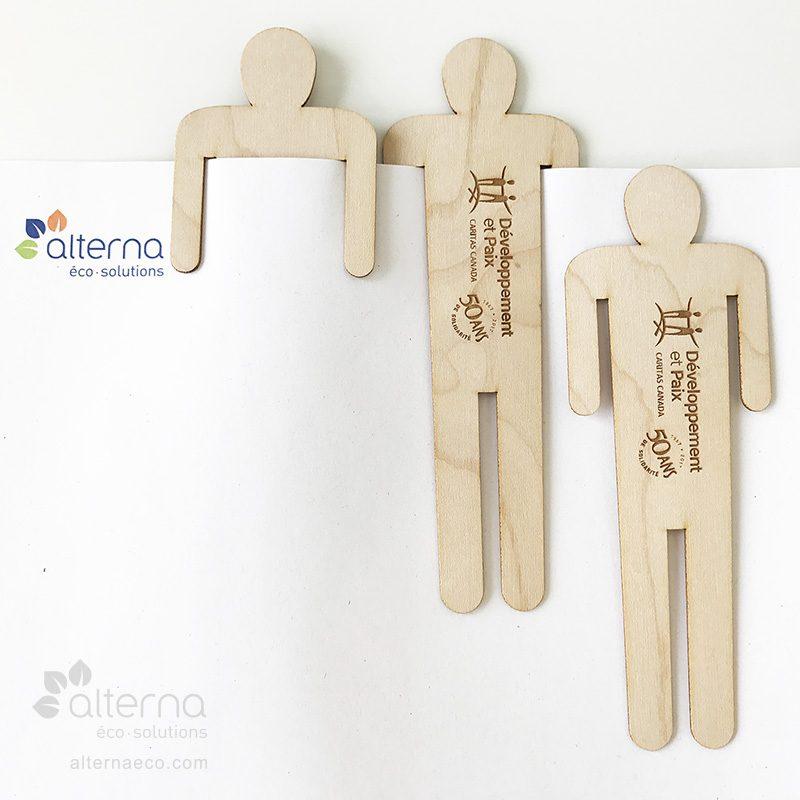 Signet bonhomme en bois fabriqué au Québec (Canada)