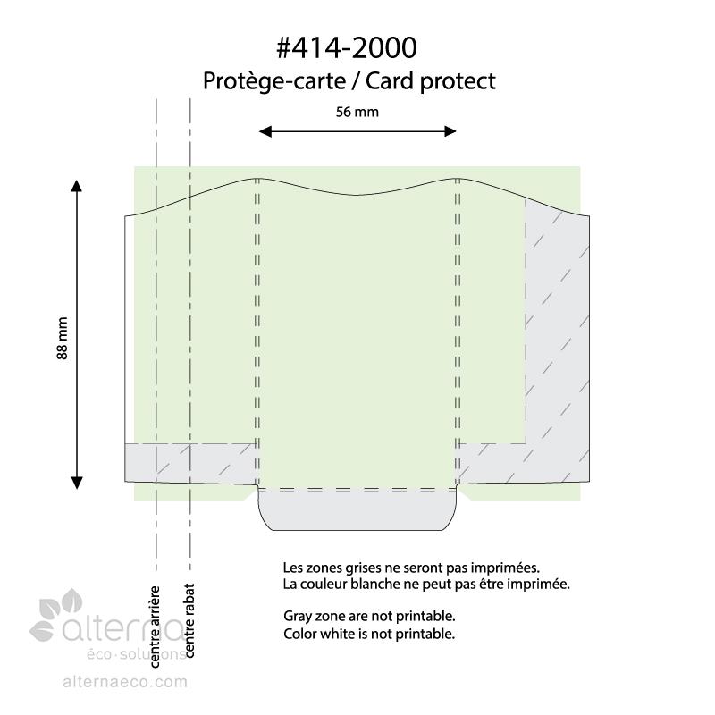 Protège-carte en bois (100% bois d'érable) fabriqué au Québec (Canada)