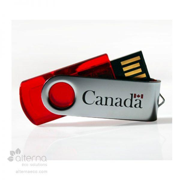 Clé USB fabriqué au Canada.