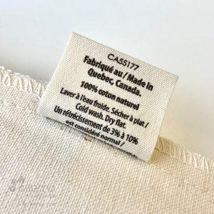 Sac réutilisable en coton naturel,