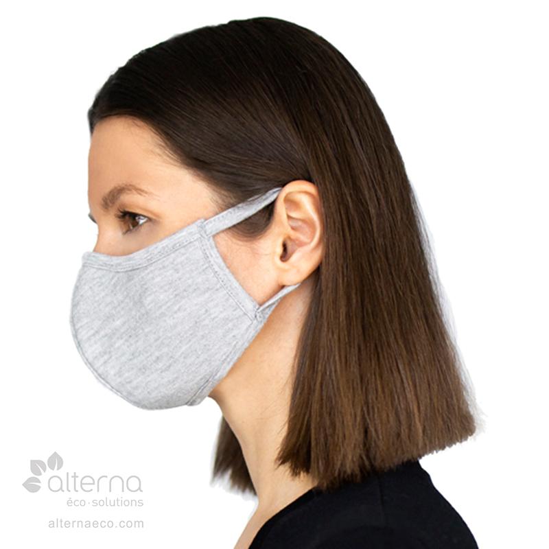Masque en bambou et coton bio fabriqué au Canada