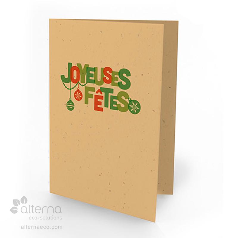 Carte de souhait en papier ensemencé